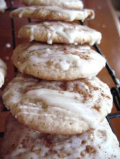 Eggnog cookies!!  I need to try these!