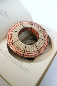 Jeremy May: Literary Jewelry: made from pages of books, which in turn become the container for the piece.
