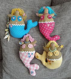 colourful chuncky mermaids by cuddly angel, via Flickr