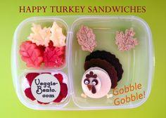 Happy Turkeys for Thanksgiving  #vegetarian #bento #EasyLunchBoxes #Thanksgiving