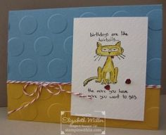 Stampin Up Giggle Greetings cat hairball card