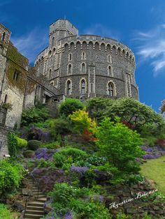 Windsor Castle - Windsor Castle is a medieval castle and royal residence in Windsor in the English county of Berkshire, notable for its long association with the British royal family and its architecture.