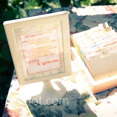 Guest book- address book. Cute alternative & very helpful for thank yous & future Christmas cards