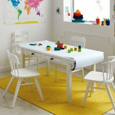 Activity Table w/Paper Roller (White)  | The Land of Nod