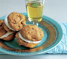 A velvety cream cheese frosting is sandwiched between two soft and chewy pumpkin cookies in this version of the classic chocolate and vanilla whoopie pie. Plan ahead and make the cookies up to three days in advance. Then, whip the filling and assemble sandwiches no more than 2 hours before serving.