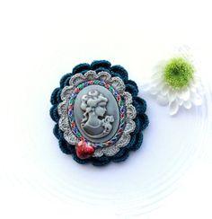 Cameo brooch  Victorian Lady Heart  Brooch by CraftsbySigita,