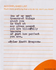 Typewriter Series #? by Tyler Knott Gregson