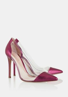 Gianvito Rossi | Metallic leather and PVC pumps