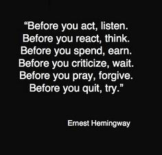 Earnest Hemingway philosophical quote #agree
