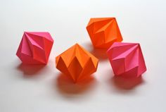 Origami diamond ornaments - How About Orange
