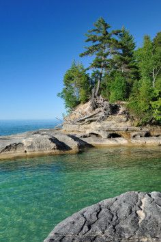 Pictured Rocks National Lakeshore along Lake Superior in Michigan has views like no other.