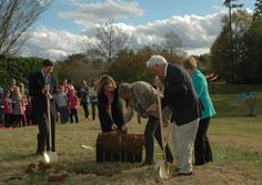 During the ground breaking of Lost Hollow: The Kimbrell Children's Garden, a treasure chest was found!