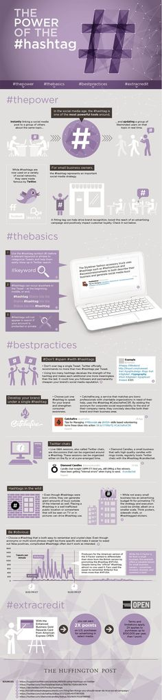 How to Use Hashtags Effectively - #infographic