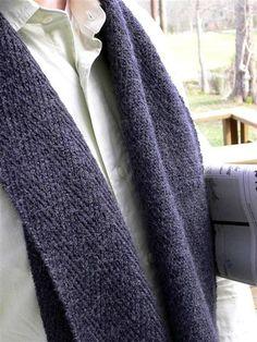 Nice men's scarf. Free pattern.