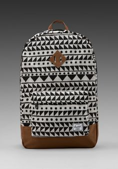 heritag backpack, backpacks, fashion, cloth, style, herschel suppli, bag, chevron black, print backpack