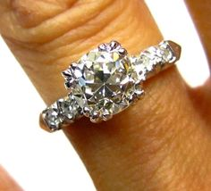 Like some of the others but bigger center stone & more expensive. 1.26ct  Old European Cut Diamond In Circa 1930