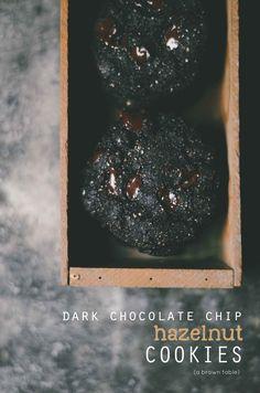 Dark Chocolate Chip Hazelnut Cookies