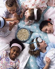 Martha Stewart Spa-Themed Sleepover Birthday Party: What do you get when you combine pajamas, facials, manicures, and fun? The perfect menu for a spa-themed sleepover birthday party. (Warning: Moms may want to get in on the action.) At this full-service celebration, little girls get treated to facial masks and have their nails done in any shade they choose. Naturally, this deluxe package wouldn't be complete without delicious cake and, of course, loads of laughs. Partygoers will have a blast ...
