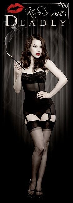 Kiss Me Deadly open bottom girdle with built in bra