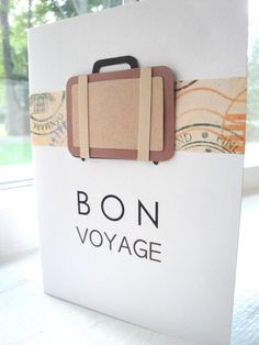 To hide in someone's suitcase...or just send. greet card, voyag card, gift cards, bon voyage cards
