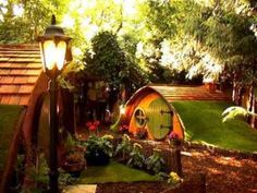 hobbit hole, fairytale house, hobbit home, the hobbit, trees