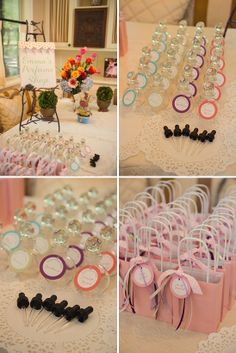 Elegant Pink and Orange Baby Shower