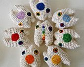 Chakra Reiki Monster Set #Crochet Amigurumi Plush - Made To Order by Knot By Gran'ma