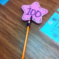 100th Day Pencil Toppers!