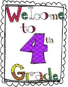 BACK TO SCHOOL ACTIVITY PACKET : WELCOME TO 4TH GRADE - TeachersPayTeachers.com