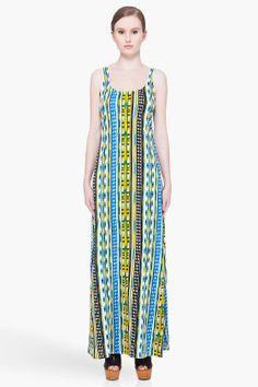 THAKOON ADDITION Long Striped Tank Dress - ugly