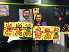 Gingerbread men and woman from Uptown Art.
