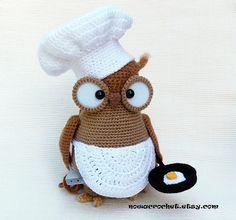 Omelette the owl  amigurumi PDF crochet pattern by Nowacrochet, €5.50