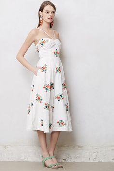 Floristitched Midi Dress