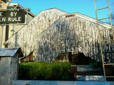 Houstonian John Milkovisch worked through the late 1960s to transform his suburban Houston home at 222 Malone Street into the Beer Can House. Over 50,000 beer cans adorn this monument to recycling.