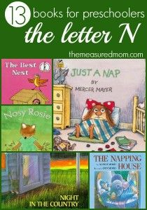 A book list for the letter N - The Measured Mom