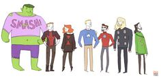 avengers in sweaters