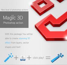 Magic 3D Photoshop Action