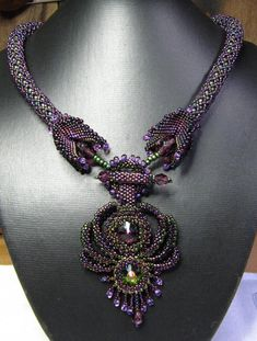 Rainbow Starburst Beaded Necklace by BlueShadowJewelry on Etsy