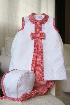 El armario de Inés. Girl dress. White. Red. Summer.