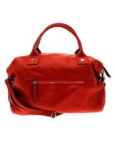 Le sac en cuir irupe rouge de Georges Rech #Bazarchic