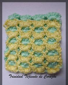Punto reversible en Crochet en dos colores