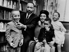 Martin Luther King, Jr. and his family