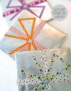 giftwrapping washitape, idea washi, gift wrapping, ribbons, ribbon wrap