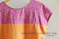 sew: color-block your bess top @Rachael (imagine gnats)
