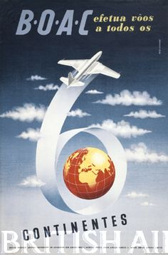 British Airways - 1950s posters #travel #alookat #airlines