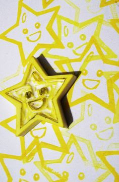 star hand carved stamp