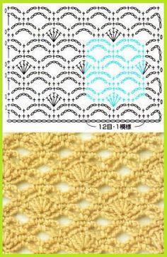 Ganchillo Crochet Patrón Esquema Diagrama