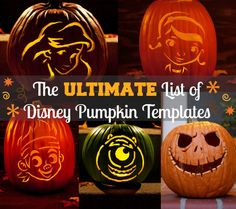 pumpkin templat, disney pumpkin carving, disney pumpkins, carv templat, pumpkin carvings