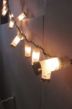White Shotgun lights handmade  Rustic home decor  by Noxmoon, $25.00. Pretty sure zack would die for these