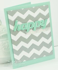 Chevron Wedding Day Card by Nichole Heady for Papertrey Ink (May 2012)